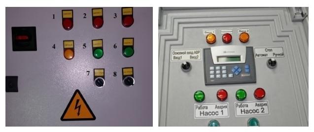 панель шкафа управления насосами