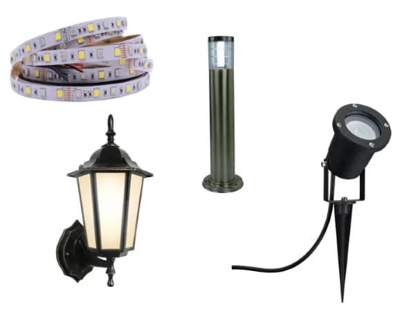виды ландшафтных светильников